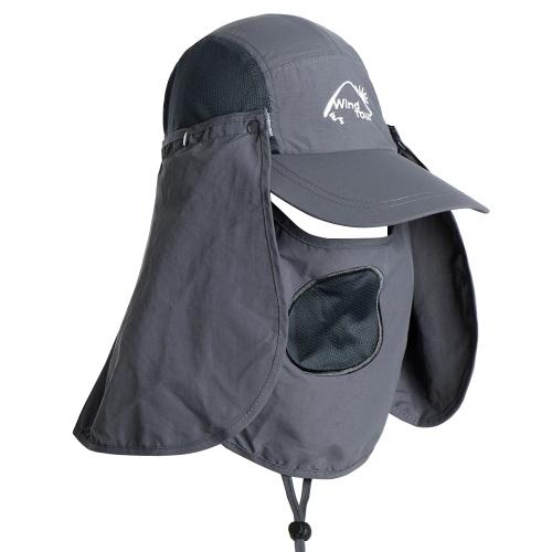 Sombrero de visera al aire libre con protección UV Cara cuello