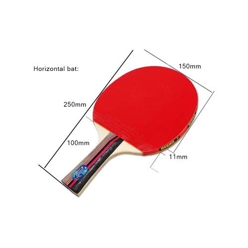 Rubber Ping Pong Paddle Set Table Tennis Racket Kit Horizontal and Vertical Grip Bat Optional