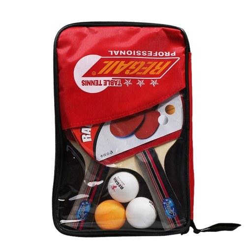 Rubber Ping Pong Paddle Set Table Tennis Racket Kit Horizontal and Vertical Grip Bat Optional