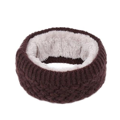 Winter Ribbed Knitted Circle Loop Ring Scarf