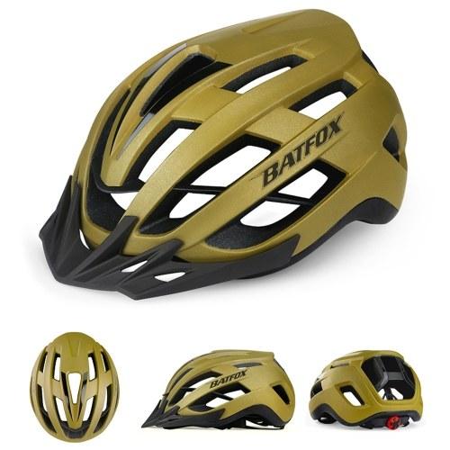 Bike Helmet Lightweight Adjustable Cycling Helmet Mountain Road Bike Helmet with Detachable Sun Visor Quick-Release Unisex Image