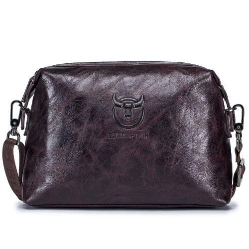 Leather Messenger Bag Crossbody Shoulder Bag with Card Slots for Men Women Travel Work School College