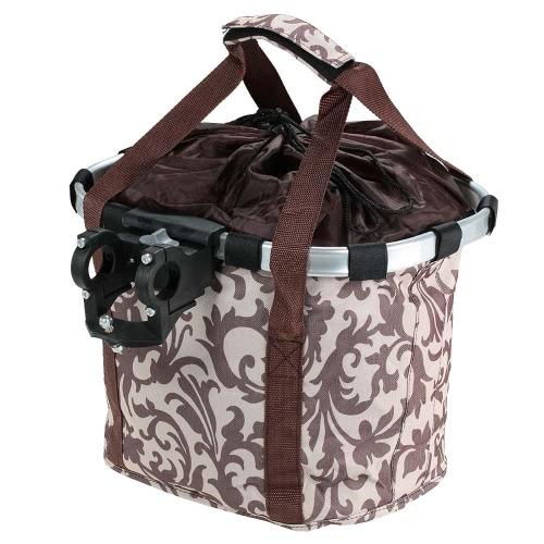 Bicycle Bike Detachable Cycle Front Canvas Basket Carrier Bag Pet Carrier Aluminum Alloy Frame