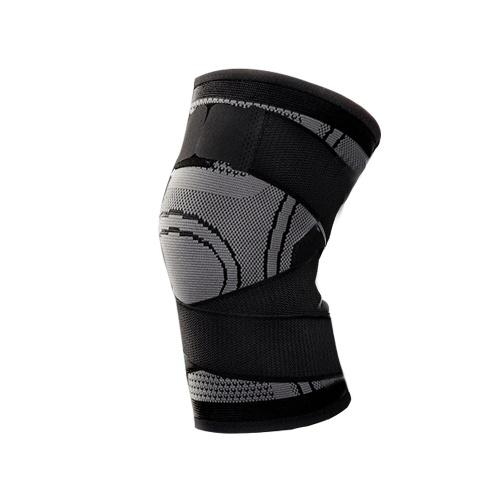 1 шт. Поддержка колена профессиональные защитные спортивные наколенник дышащая повязка черный + серый м