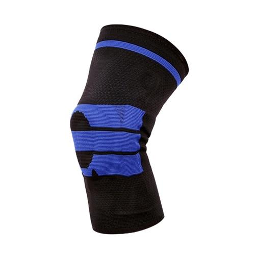 Баскетбольная поддержка Силиконовые мягкие наколенники Дышащая защита наколенника Gery + синий M