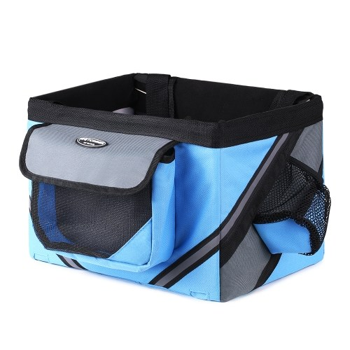 Bicycle Handlebar Basket Bike Front Bag Box Pet Dog Cat Carrier