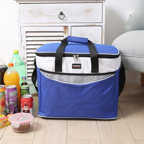 34L Outdoor Insulated Bag Cooler Lunch Tote Thermal Bento Bag Outdoor Camping BBQ Picnic Food Freshness Insulated Cooler Bag