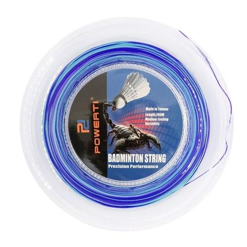600FT 0.7mm Badminton Bicolor Corda Colorido Brilhante Ao Ar Livre Indoor Badminton Raquete Corda De Treinamento de Treinamento de Badminton Substituição Resiliente