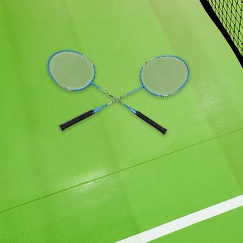 Image of 2-Spieler-Badminton-Schlägerset Indoor Outdoor-Sport-Studenten Training üben Badmintonschläger mit Abdecktasche