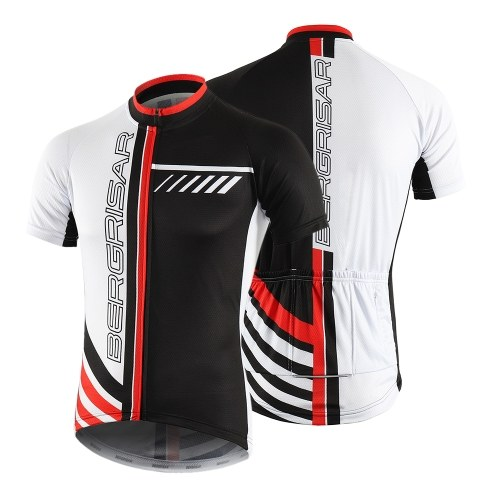 Men Cycling Jersey Breathable Quick Dry Short Sleeve