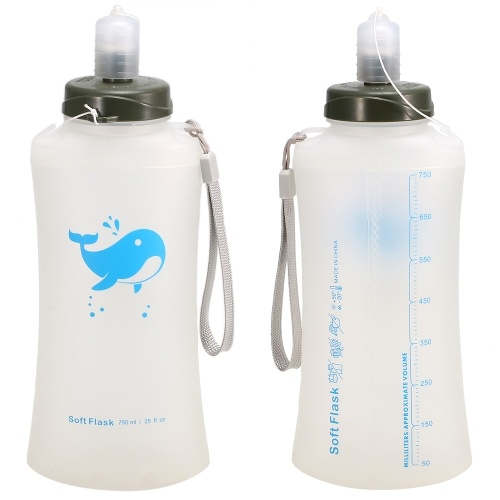 Outdoor Camping Hiking Foldable Water Bottle фото