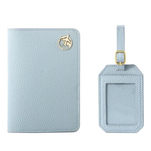 Portador de passaporte com um tag de bagagem