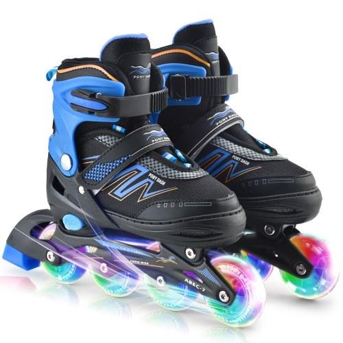 Adjustable Inline Skates with Illuminating Wheels For Kids Boys Girls Ladies