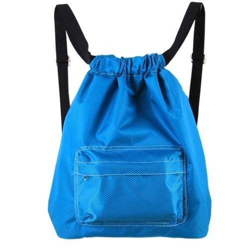 Drawstring Backpack Waterproof Unisex Sport Storage Bag