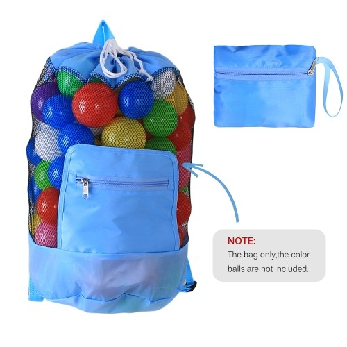 Beach Mesh Bag Toy Tote Drawstring Beach Backpack