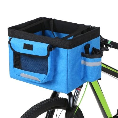 Y12502BL 1 54c6 tUtF - Faltbarer Fahrradkorb Abnehmbarer Fahrradkorb für Haustiere , lixada