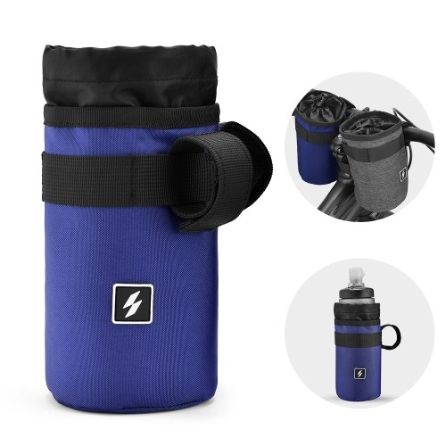 Saco de garrafa de guidão de bicicleta de suporte de água