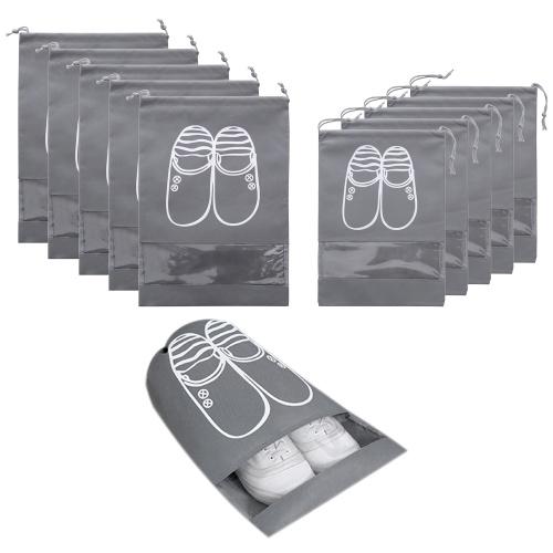 10 Pack Non-Woven Drawstring Shoe Storage Bag