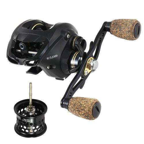 18+1 Ball Bearings Baitcasting Fishing Reel with Deep Shallow Spools 6.3:1 Gear Ratio Poweful Fishing Bait Casting Reel
