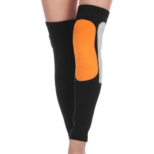 Almofadas de cinta de joelho quente no inverno Manga comprida no joelho Suporte de joelho térmico para esportes mais quentes