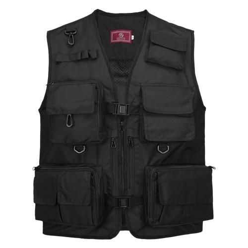 Fishing Photography Vest Summer Multi Pockets Mesh Jackets Quick Dry Waistcoat