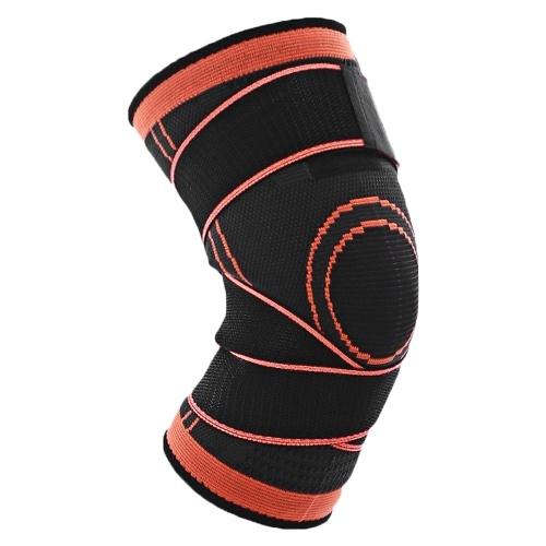 バスケットボール膝ブレースパッドスポーツ包帯通気性膝サポートプロテクター付き膝スリーブ