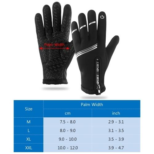 Winter Warm Touchscreen Cycling Gloves Windproof Full Finger Winter Sports Gloves for Men Women Biking Driving Hiking Motorcycling Image