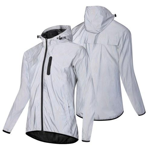 Jaqueta reflexiva com capuz impermeável com capuz wind Coat para homens mulheres jaqueta de segurança noturna para ciclismo corrida jogging caminhada