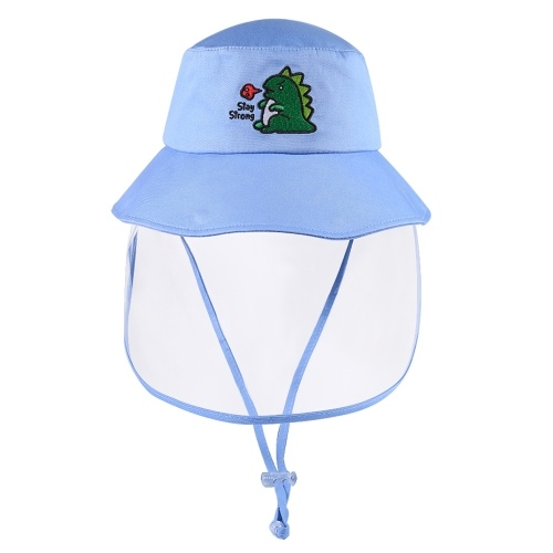 Outdoor UV Protection Sun Cap Detachable Traveling Fishing Bucket Hat with Removable Visor Face Cover for Kids Boys Girls Age 3 - 10