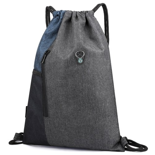 Gym Sack with Earphones Jack Drawstring Backpack