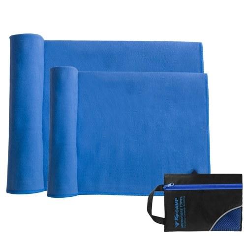 2pcs Travel Towel Set Quick Dry Microfiber Bath Towel Hand Towel Set