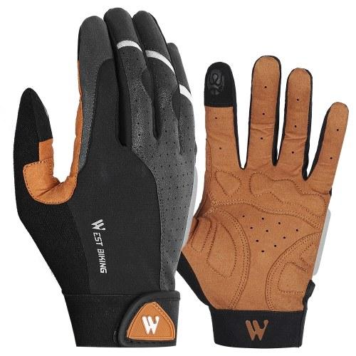 WEST BIKING Велоспорт перчатки Нескользящие дышащие мужские противоударные спортивные на открытом воздухе MTB велосипедные мотоциклетные перчатки