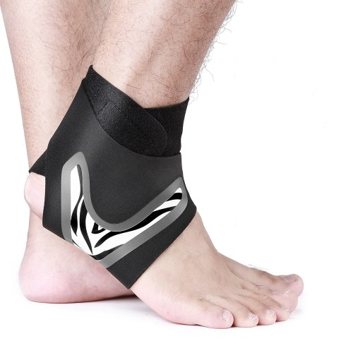 One Pair Unisex Ankle Support Brace Foot Bandage Sprain Prevention Stretchable Adjustable Sports Fitness Foot Protection Ankle Guard
