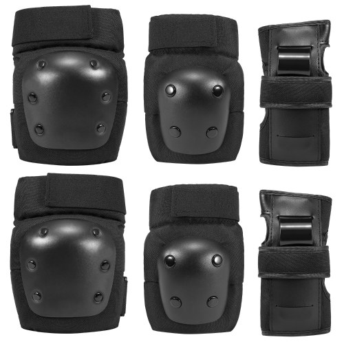6 in 1 Kids/Adults Knee Pads Elbow Pads Wrist Pads Sport Protective Gear Set