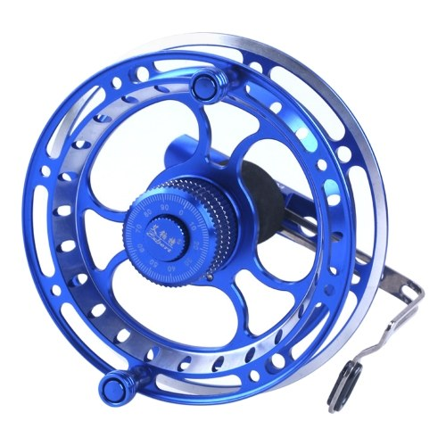 Fly Fishing Reel 3BB Ball Bearings Full Metal Fishing Wheel Right Handed Aluminum Alloy Smooth Fly Reels Ultra Light Front Fishing Reel Fishing Accessories