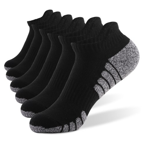 6 Pairs Sports Ankle Socks  Athletic Low-cut Socks Thick Knit Autumn Winter Socks Outdoor Fitness Breathable Quick Dry Socks Wear-resistant Warm Socks Lightweight Anti-skid No-Show Socks For Marathon Running Cycling