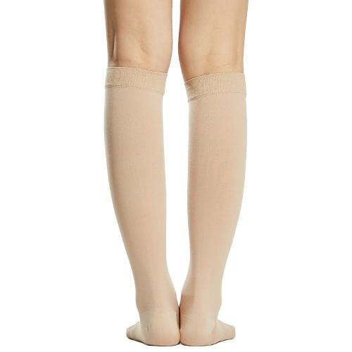 1 paire de chaussettes de Compression hommes femmes 20-30mmHg bas de Compression à bout ouvert manches de Compression pour gonflement de la veine variqueuse