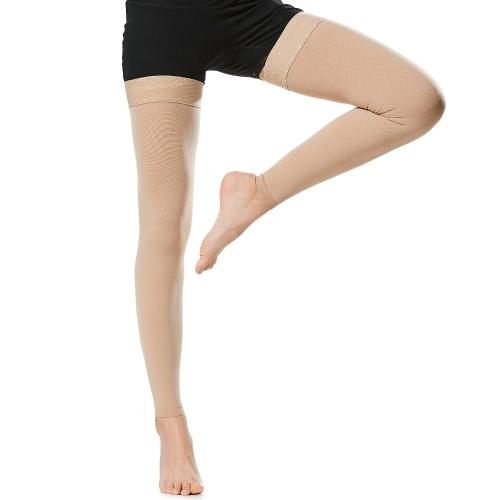 1 par de meias de alta compressão para coxas, homens, mulheres, 20-30mmHg, meias de compressão, mangas de compressão para inchaço das veias varicosas