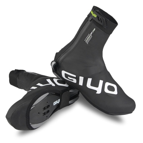 Waterproof PU Cycling Shoes Covers with Reflective Design Men Women Reusable Thermal MTB Bike Shoes Covers Image