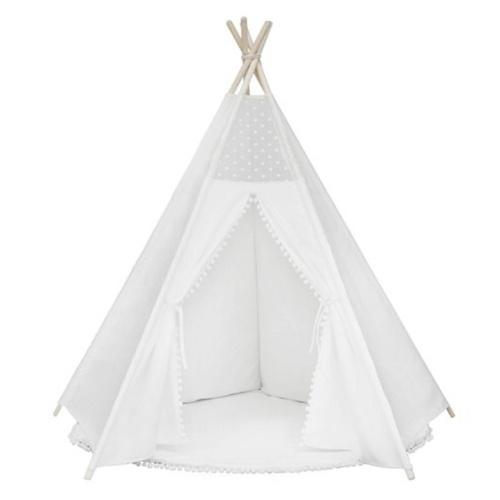 Tipi Zelt für Kinder Faltbare Kinder Spielzelte für Mädchen und Jungen 100% Baumwolle Leinwand Spielhaus Spielzeug für Mädchen und Kinder drinnen und draußen