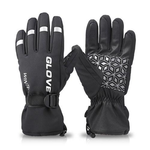 Лыжные зимние перчатки Теплые перчатки Водонепроницаемые и ветрозащитные зимние перчатки для сноуборда