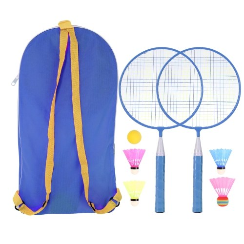 Ракетка для бадминтона для детей 1 пара, профессиональная ракетка из нейлонового сплава для детей в помещении / на открытом воздухе