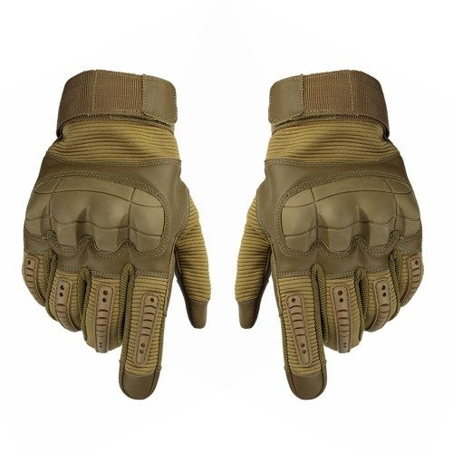 Touching Screen Hard Knuckle Gloves PU Leather Outdoor Sport Gloves Proffessional Cycling Paintball Gloves Image