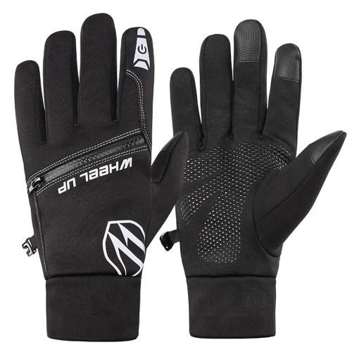 Waterproof Glove All Fingers Touchscreen Waterproof Winter Sports Running Cycling Biking Gloves for Men Image