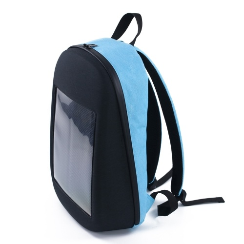 Backpack with LED Display Screen Outdoor Dynamic Advertising Backpack DIY Wireless LED Walking Advertising Backpack