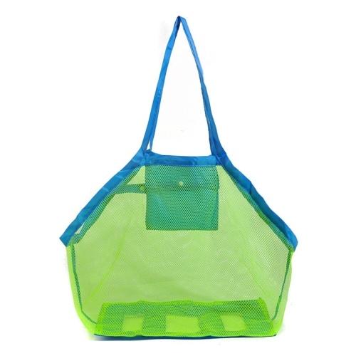 Outdoor Beach Mesh Bag Large Capacity Portable Toys Storage Bag Filter Sand