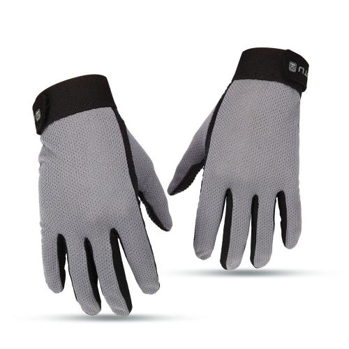Traspirante Full Finger uomo guanti Touch Screen Guanti ciclismo