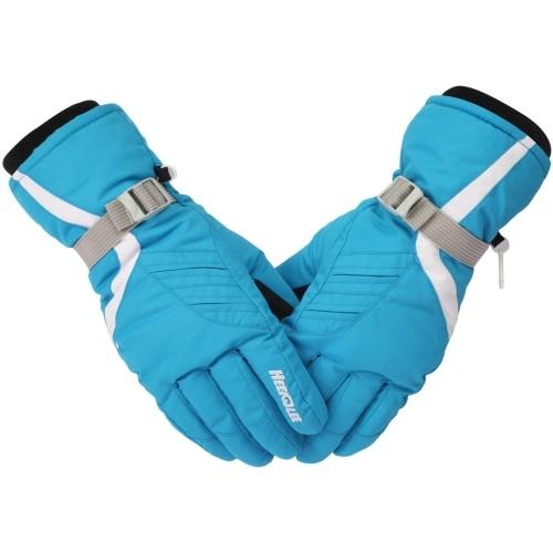 1 Paar Skihandschuhe Winter Outdoor Schnee Warme Fäustlinge Warme Touchscreen-Handschuhe Vollfingerhandschuhe Thermohandschuhe Winddichte Fäustlinge Handwärmer für kaltes Wetter