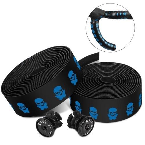 1 pair of Bicycle Handlebar Tapes Soft Road Bike Handlebar Band Breathable Non-Slip Cycling Handlebar Belt EVA PU Bar Tape Bicycle Horns Belt Bike Anti-Slip Shockproof Wrap Riding Equipment