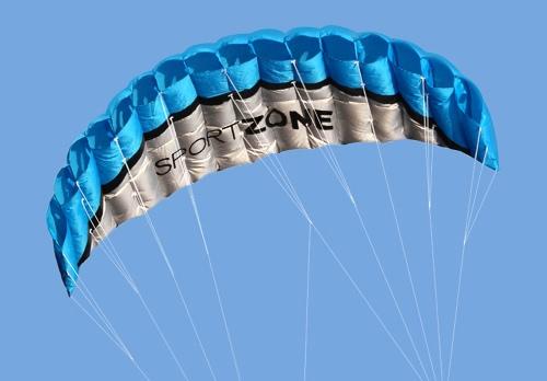 Outdoor Sport 2,5 m Power weichen Kite Dual Line Stunt Parafoil Drachen mit Griff 30m Line